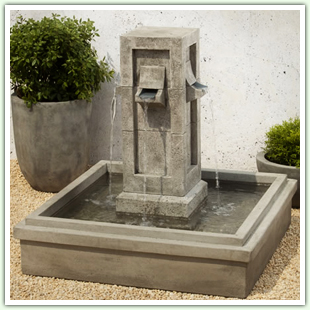 Cast Stone and Granite Floor Fountains