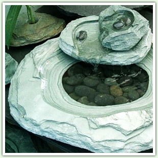 Outdoor Fountains with Carved Slate