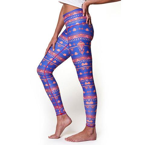 Teeki Yoga Hot Pants Guns & Roses Blue