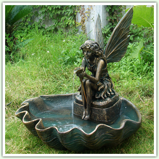 Fiberglass and Resin Floor Fountains