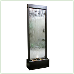 Floor Fountains with Glass or Acrylic