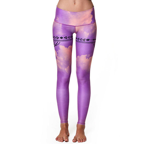 Teeki Yoga Hot Pants Purple Haze